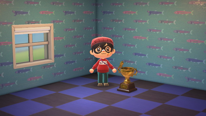 Animal Crossing: New Horizons Gold Fish Trophy