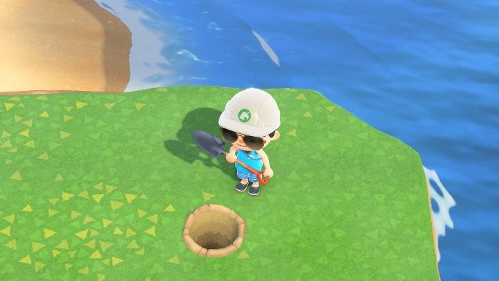 Animal Crossing: New Horizons I Dug a Hole