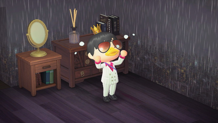 Animal Crossing: New Horizons Rich Dude Crying at Home