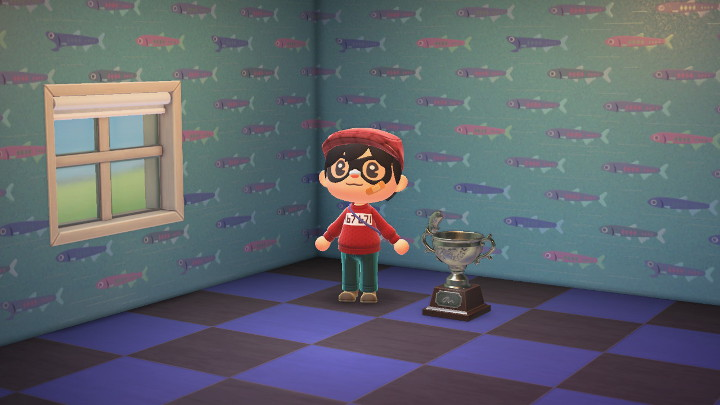 Animal Crossing: New Horizons Silver Fish Trophy