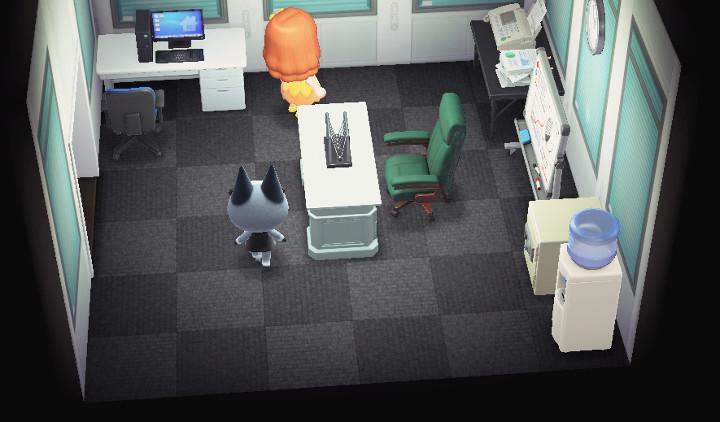 Animal Crossing: New Horizons Raymond Home Interior