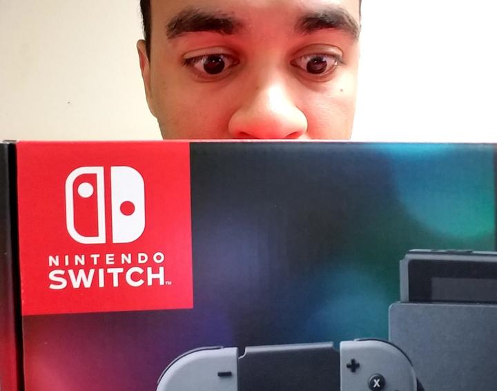 Julian and Nintendo Switch