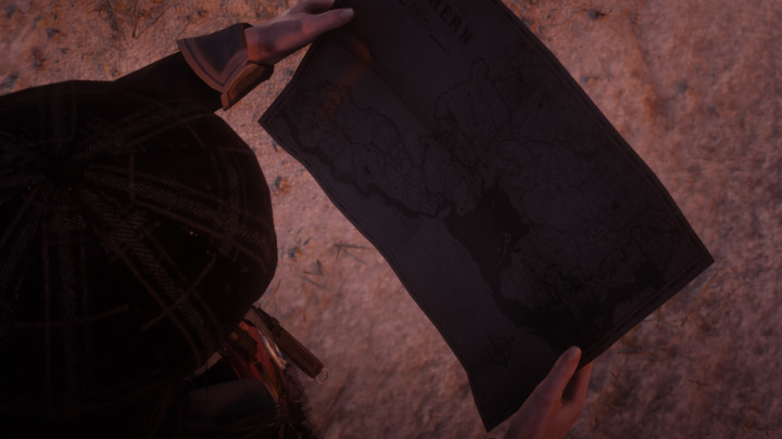 Red Dead Redemption 2 Treasure Map