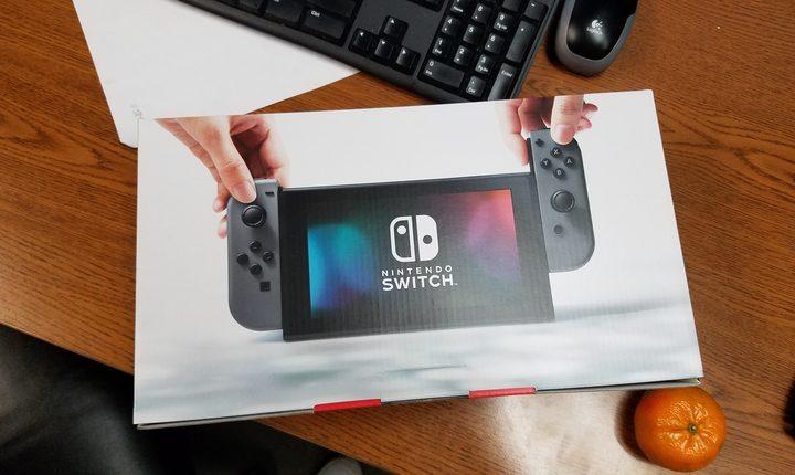 Nintendo Switch on Desk