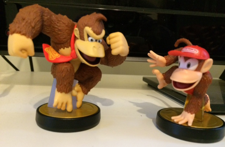 Amiibo - Diddy Kong and Donkey Kong
