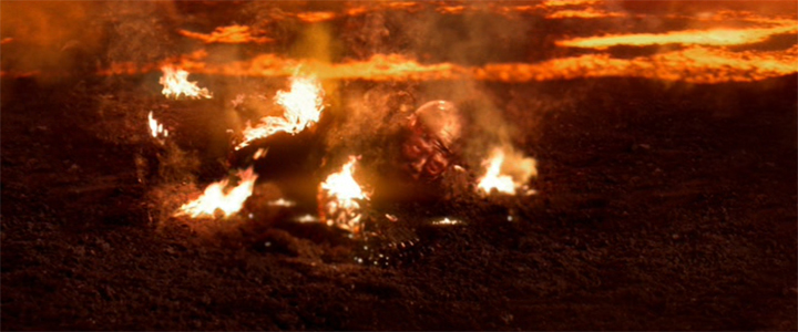 Star Wars - Anakin on Fire