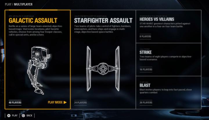 Battlefront 2 Multiplayer Game Modes