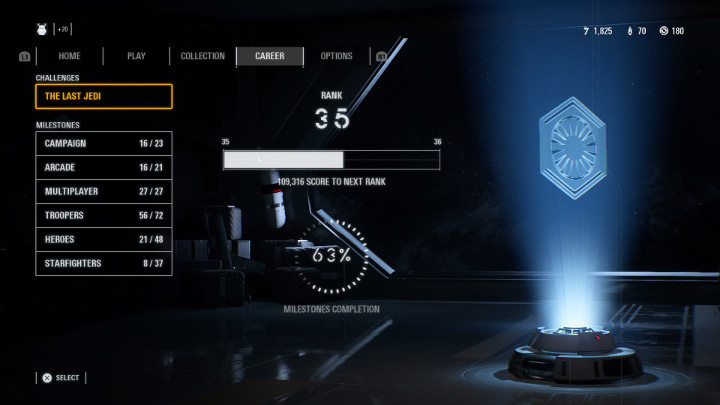 Star Wars Battlefront 2 Career Page