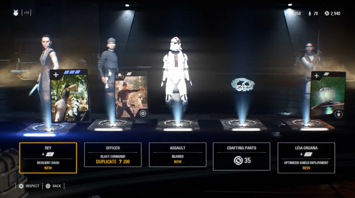 Star Wars Battlefront II Loot Crate Opened