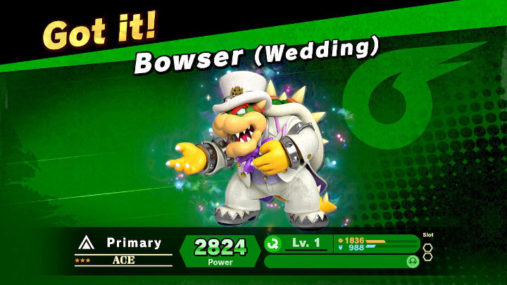 Super Smash Bros Ultimate - Wedding Bowser Spirit