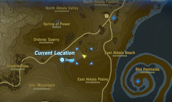 Breath of the Wild Akkala Map
