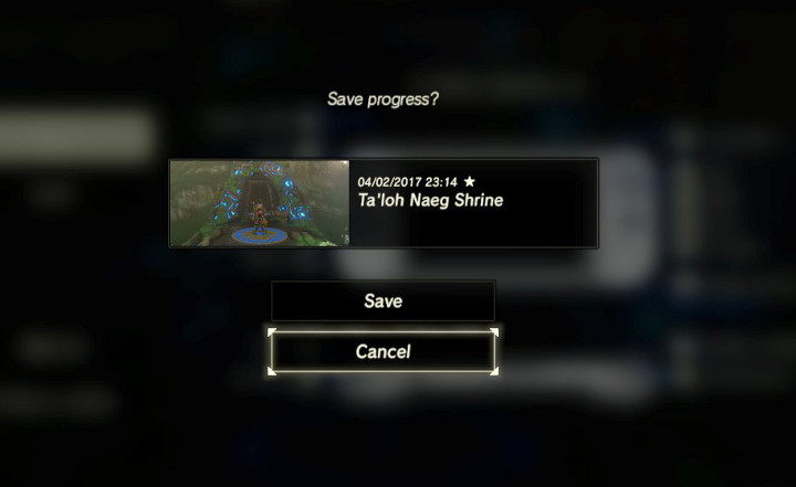 Breath of the Wild - Save File with Star