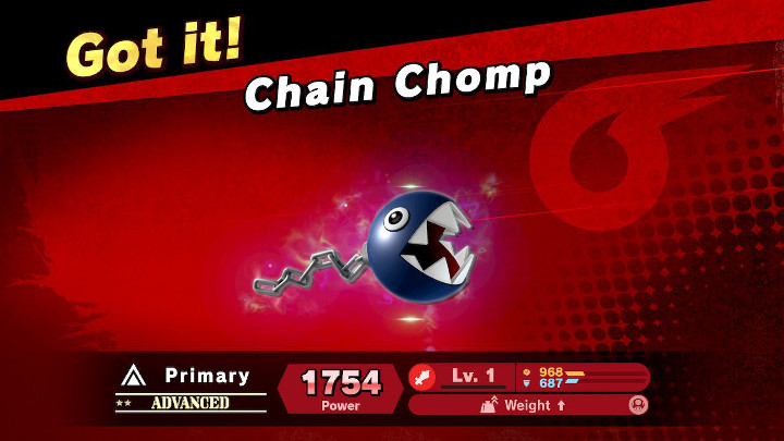 Super Smash Bros Ultimate - Chain Chomp Spirit