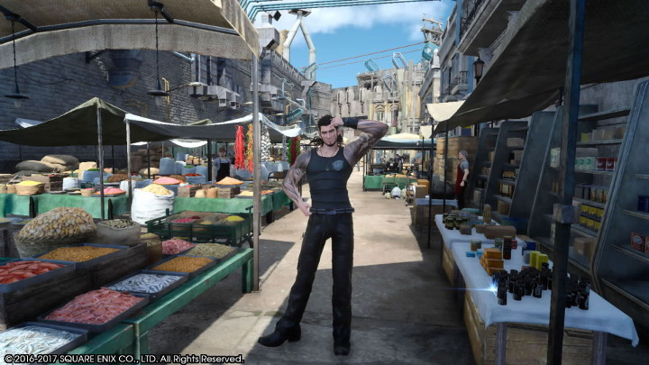 Final Fantasy XV Gladiolus Strikes a Pose