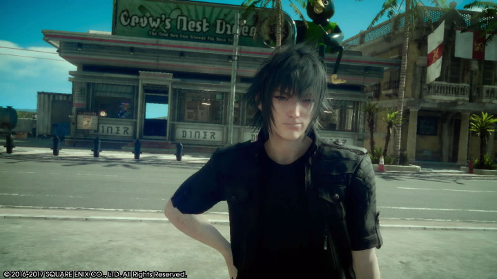 Final Fantasy XV Noctis at the Crow's Nest Diner