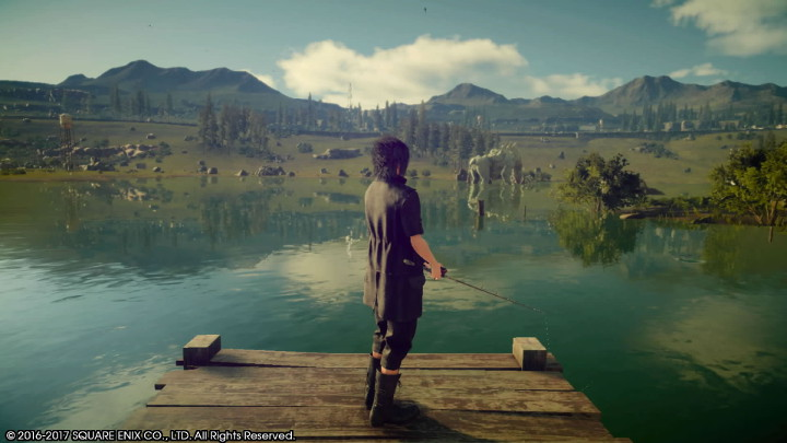 Final Fantasy XV Noctis Fishing