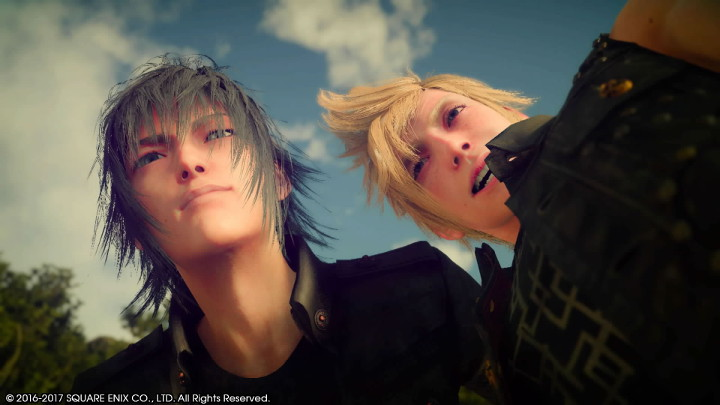 Final Fantasy XV Noctis and Prompto Selfie