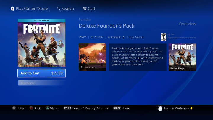Fortnite Deluxe Founder's Pack
