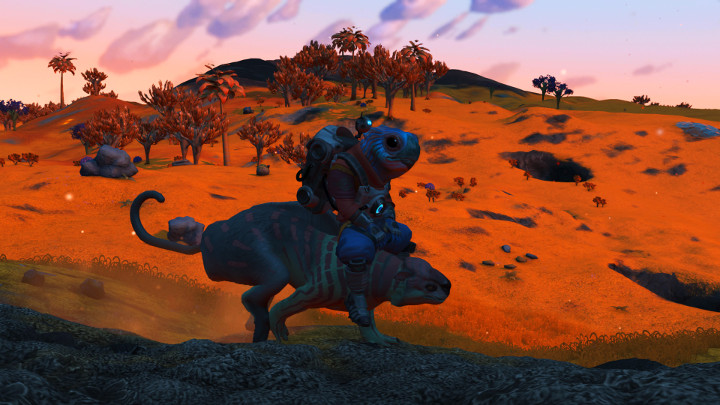 No Man's Sky - Gek Riding an Alien
