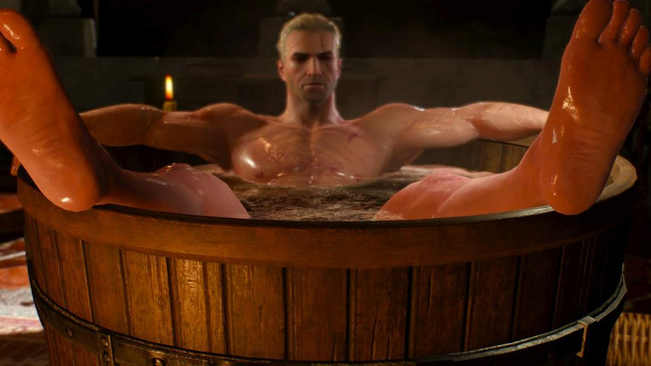 The Witcher 3 - Geralt in a Tub