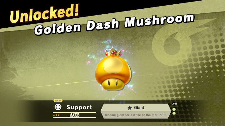 Super Smash Bros Ultimate - Golden Dash Mushroom Support Spirit