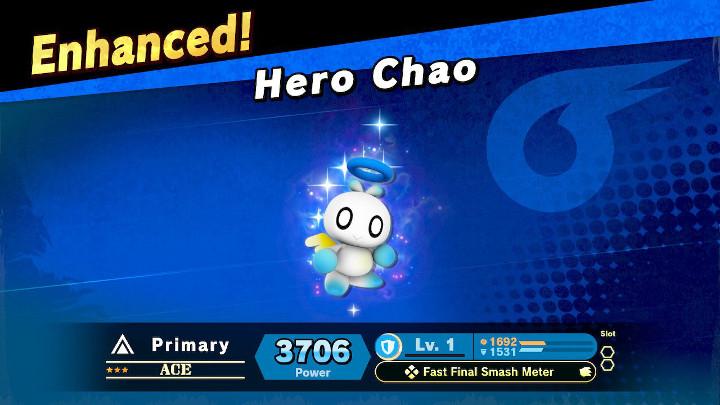 Super Smash Bros Ultimate - Hero Chao
