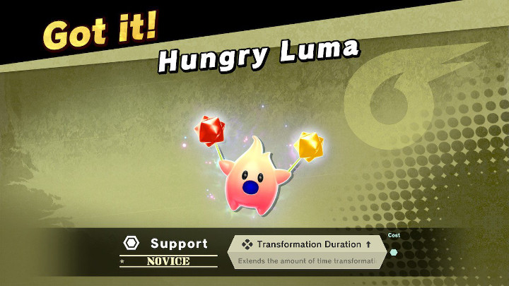 Super Smash Bros Ultimate - Hungry Luma Support Spirit