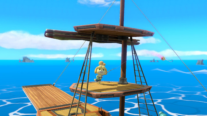 Super Smash Bros Ultimate - Isabelle Fishing