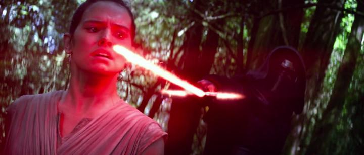 Kylo Ren Threatening Rey, The Force Awakens