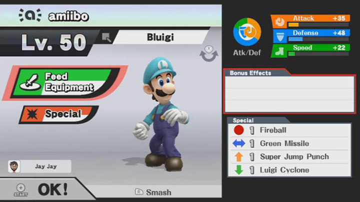 Super Smash Bros. Amiibo Menu
