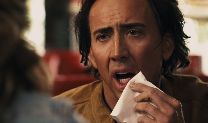 Nicolas Cage with a Napkin