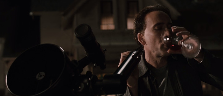 Nicolas Cage with Wine and Telescope