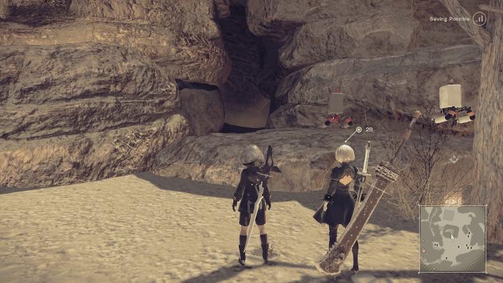 Nier: Automata desert cave