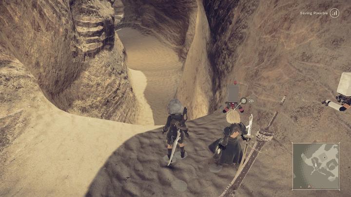 nier automata desert path