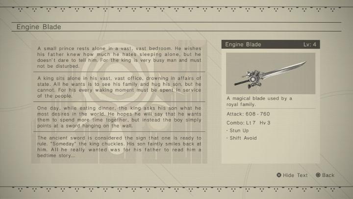 NieR: automata engine blade story
