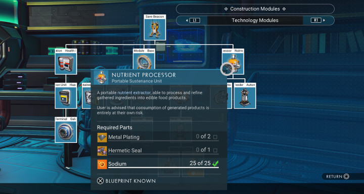 No Man's Sky - Nutrient Processor Blueprint