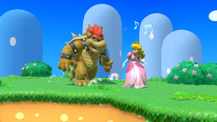 Super Smash Bros Ultimate - Peach and Bowser