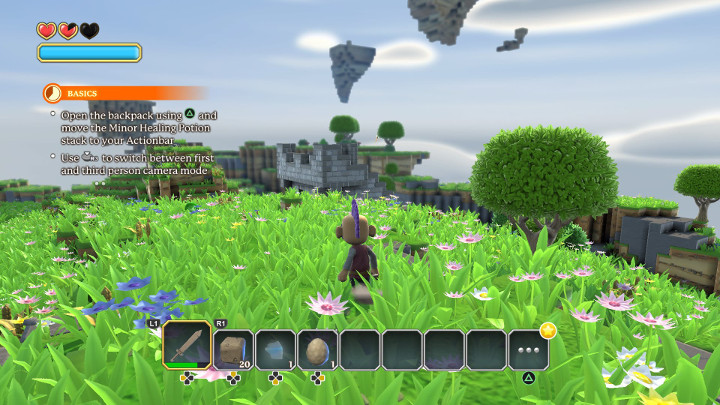 Portal Knights Running Through a Field