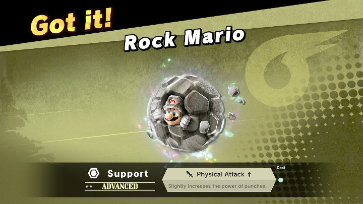 Super Smash Bros Ultimate - Rock Mario Support Spirit