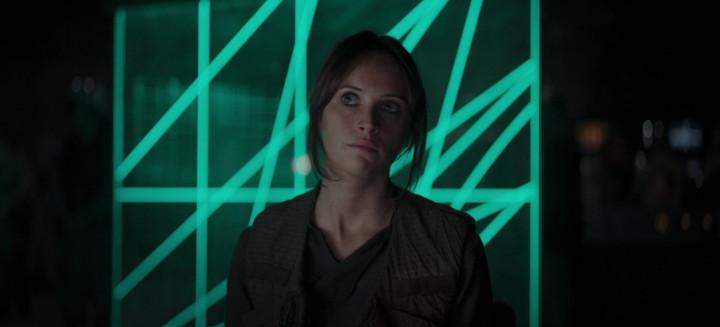 Rogue One Jyn Erso on Yavin 4