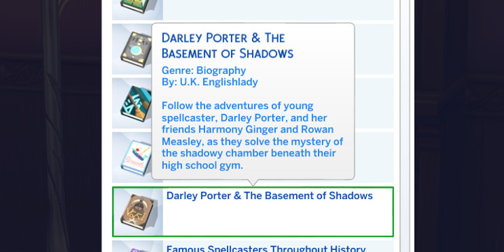 The Sims - Darley Porter and the Basement of Shadows