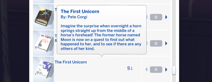 The Sims - The First Unicorn