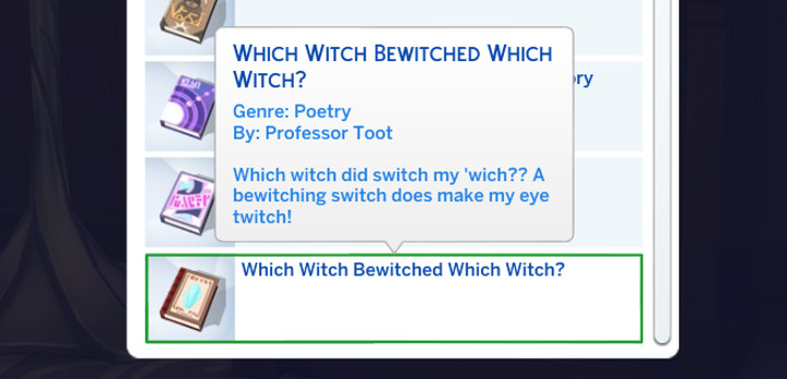 The Sims - Which Witch Bewitched Which Witch?