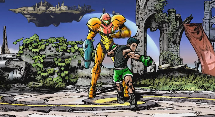 Super Smash Bros Wii U - Samus vs Little Mac