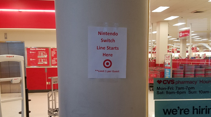 Target Nintendo Switch Sign