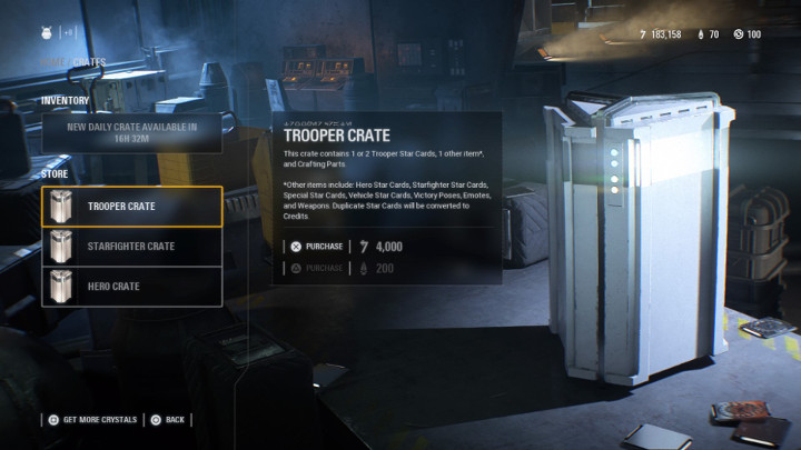 Battlefront II Trooper Crate