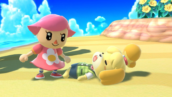 Super Smash Bros Ultimate - Villager and Isabelle