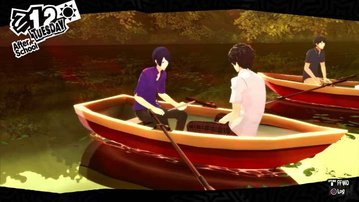 persona 5 yusuke boat